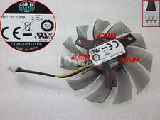 CoolerMaster FY08010H12LPA graphics/video card Fan DC12V 0.3A 3wire 3-Pin 75mm