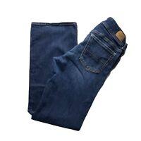 American Eagle Jeans Slim Boot 8 Short Womens Dark Wash AEO Mid Rise Stretch