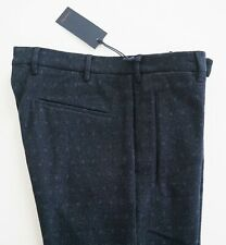 NWT Authentic ZANELLA *STAN/S* Dark Blue WOOL Blend Dress Pants IT-50 US-32