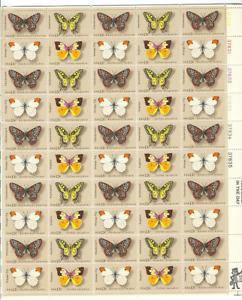 Scott #1712/5....13 Cent....Butterflies...Sheet of 50