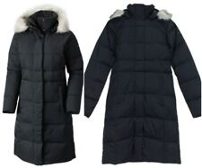 NWT COLUMBIA WOMEN'S VARALUCK™ LONG HOODED DOWN JACKET trench Black white fur S