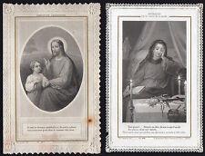 LOT DE 2 IMAGE PIEUSE / CANIVET DENTELLE - LETAILLE - XIX° HOLY CARD SANTINO (5)