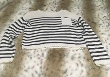 Forever 21 Girls Knitted Sweater Navy Stripes 13-14 Long Sleeves