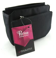 Periea Handbag Organiser Purse Insert Liner Bag Tidy 9 Pockets - Black - Tegan