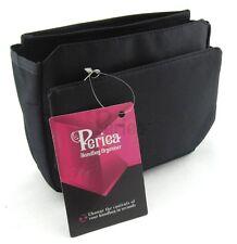 Periea Handbag Organiser, Purse Insert, Liner, Tidy, 9 Pockets - Black - Tegan