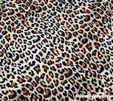 Zebra Giraffe Pink Brown Leopard Milk Cow Wild Animal Print Satin Fabric 1 Yard