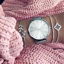 3 Pcs/Set Women's Four-leaved Clover Adjustable Open Bangle Bracelets Jewelry