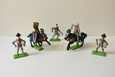 Vintage Britains Deetail Medieval Semi Swoppet Mounted & Foot Knights 1:32