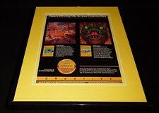 Choplifter / Serpentine 1983 Commodore 64 Framed 11x14 ORIGINAL Advertisement