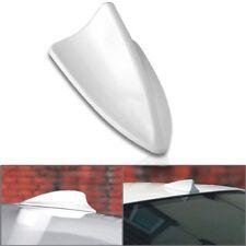 Car WHITE Shark Fin Antenna Roof Dummy Aerials Adhesive Decoration AC44 WHI