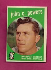 1959 TOPPS # 489 REDLEGS JOHN POWERS EX-MT  CARD (INV# A2775)