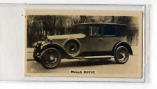 (Jb5129-100)  WILLS NZ,MOTOR CARS,ROLLS-ROYCE,1926#31