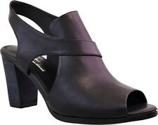Sandals Heel Comfort Leather - KLOUDS Silver Lining Shoes Ruby 39 Black