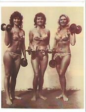 Cindy Harris/Doris Barrilleaux/Joyce Weir Female Bodybuilding Muscle Photo B+W