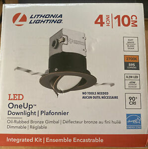 Lithonia Lighting OneUp 4 in. Canless 2700K New Construction or Remodel Dimmable