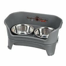 Neater Feeder Express Medium to Large Dog Gunmetal - with Stainless Steel Dri.
