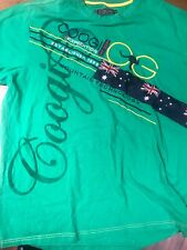 Coogi Expedition Embroidered T Shirt XXL Ausi Flag Patch Organic Stitch