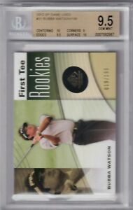 2002 SP Game Used First Tee Rookies /199 #31 - BUBBA WATSON - BGS 9.5 GEM MINT