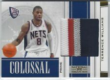 2009/10 NATIONAL TREASURES TERRENCE WILLIAMS COLOSSAL PRIME PATCH 08/10 NETS #16