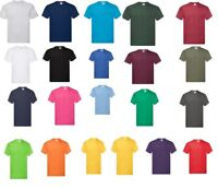 10 Pack FOTL Mens 100% cotton Short Sleeve Original T-Shirt Plain Tee Shirts Top