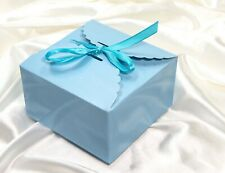 Bakery Box for Candy ,Cake ,Cookie, Party Gift,  blue , pack of 10