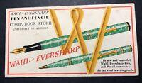 Wahl Eversharp Fountain Pen Art Deco Ink  Blotter Mini Sign University Arizona