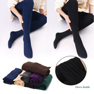 Leggings Footed Fleece Lined Thermal Slim Skinny Stretch Warm Winter for Women
