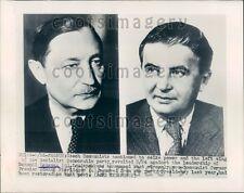 1948 Czech Premiers Bohumil Lausman & Zdenek Fierlinger Press Photo