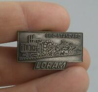 Vintage LORAM SBC Standard Construction Machinery pinback button pin *EE91