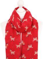 Rudolph the Red Nose Reindeer Scarf Red Ladies Christmas Secret Santa Xmas Wrap