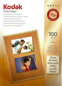 Kodak Photo Paper: Gloss A4 Instant Dry 180gsm 100 Sheets..New & Sealed.