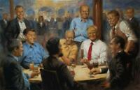 Andy Thomas The Republican Club Donald Trump Art Print 17 x11 Signed by Artist