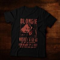 Whiskey A Go Go Blondie Poster 70s Retro Short Sleeve Ultra Cotton T-Shirt