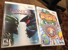 Bionicles Heroes Science Papa - Nintendo  Wii Games Nice