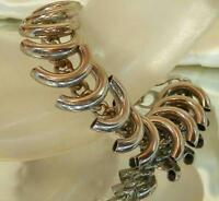 Neat-O Vintage 70's Modernist Silver Tone Bracelet 179S6