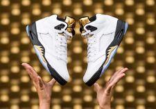 New Air Jordan V 5 Retro Gold Coin Olympic Medal White Size 10 136027 133