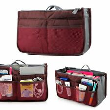 small bag organizer multi zippers pockets travel ipad tablet sleeve pouch wine