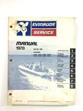 1978 Evinrude 25 35 HP OMC Service Shop Repair Manual Outboard 5395