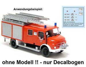 Mickon 50120 Decals MB LAF 1113 LF 16 TS Feuerwehr Bremen für Preiser 1:87 H0