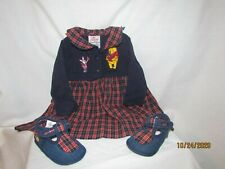 Disney Store Winnie The Pooh Plaid Dress Sz 6 mo, Matching Shoes Sz 6-12 mo