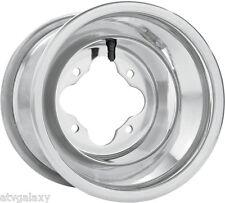 """DWT Polished A5 Rolled Lip ATV Rear Wheel 9"""" 9x8 3+5 4/110 Honda TRX 250R 450R"""