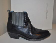 $1,060 GOLDEN GOOSE Crosby Chelsea Ankle Boot Bootie Black / Grey Leather 36 - 6