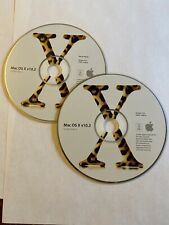 Original Apple Mac OS X v10.2 Jaguar Full Install Discs 2 CD Set