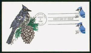 Mayfairstamps US FDC 1996 Blue Jay Hand Painted First Day Cover wwp_65205