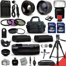 Nikon D7100 PROFESSIONAL 32 Piece Accessory Kit w/ Battery Grip + Flash +MORE!