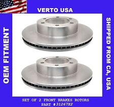 Set Of 2 Front Premium Brake Rotors  Fit  Toyota Sequoia & Tundra Limited Life