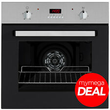 MyAppliances REF28744 60cm Built-in Single Electric Fan Oven Stainless Steel