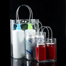 Women PVC Transparent Clear Cosmetic Makeup Storage Bag Tote Handbag Gift Bag