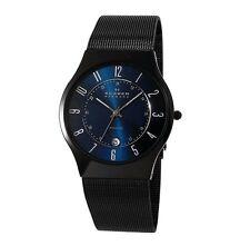 Skagen Orologio Watch Dermak Titanium Titanio Brunito Blu Elettrico T233XLTMN