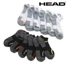 12 HEAD MENS SWIFT-DRY BLACK WHITE TENNIS SPORTS ATHLETIC SOCKS 10-13 SZ 9-12.5